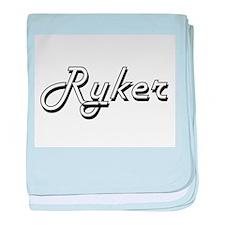 Ryker Classic Style Name baby blanket
