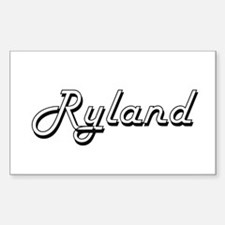 Ryland Classic Style Name Decal