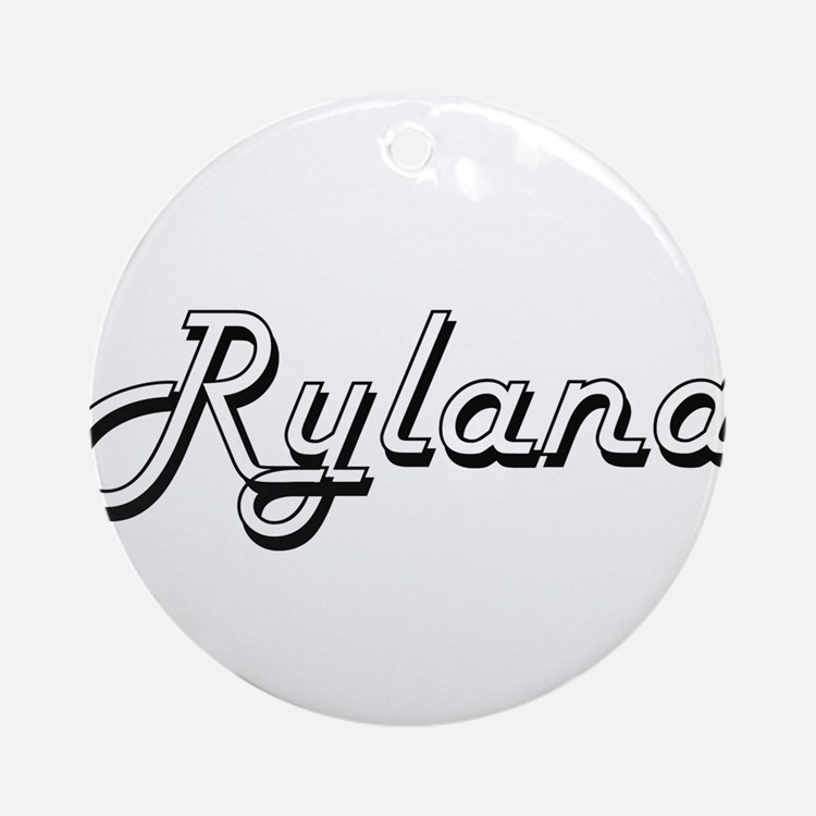 Ryland Classic Style Name Ornament (Round)