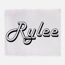 Rylee Classic Style Name Throw Blanket