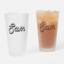Sam Classic Style Name Drinking Glass