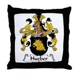 Hueber Family Crest Throw Pillow
