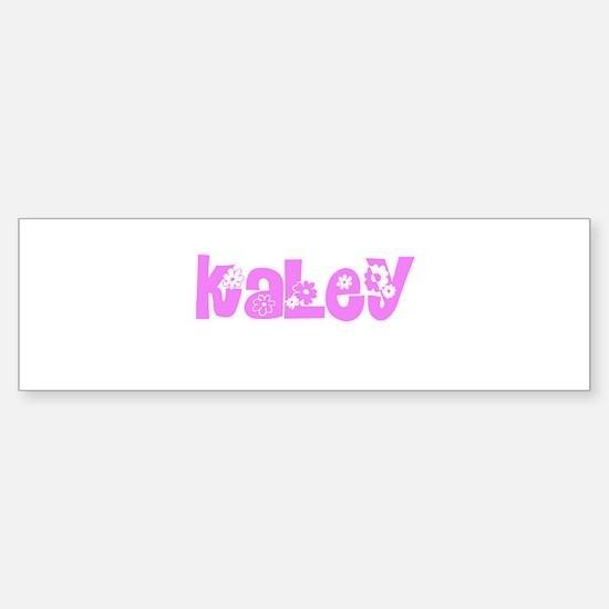 Kaley Flower Design Bumper Bumper Bumper Sticker