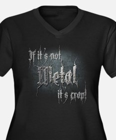 Metal 5 Women's Plus Size V-Neck Dark T-Shirt