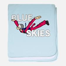 Blue Skies. baby blanket