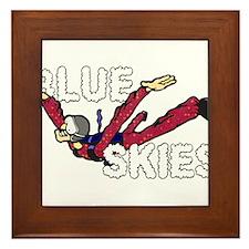 Blue Skies. Framed Tile