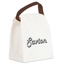 Savion Classic Style Name Canvas Lunch Bag