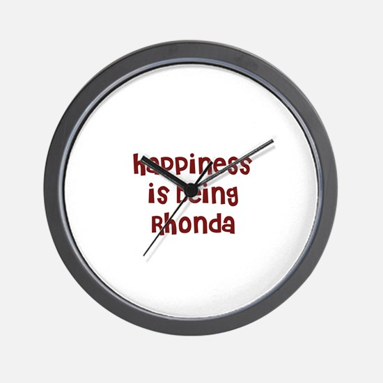 happiness is being Rhonda Wall Clock