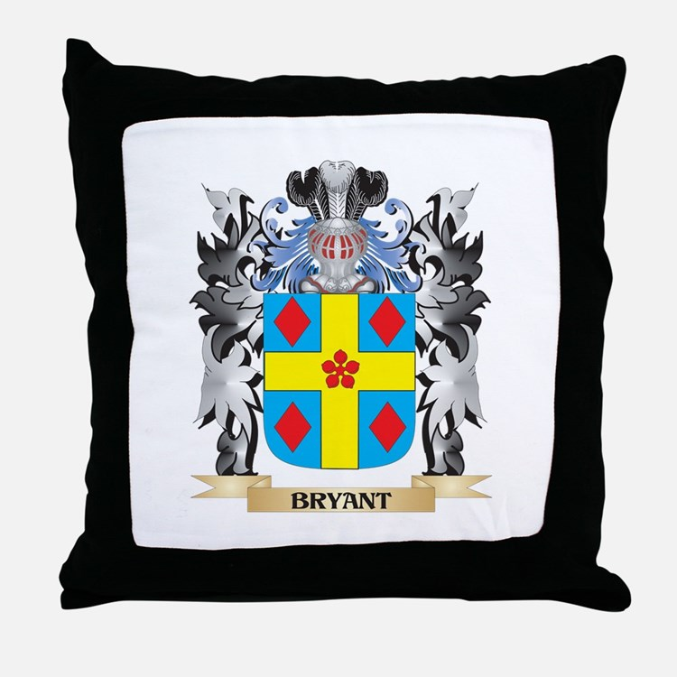 Bryant Coat of Arms - Family Crest Throw Pillow