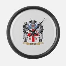 Bryce Coat of Arms - Family Crest Large Wall Clock