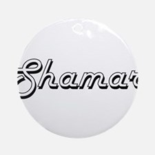 Shamar Classic Style Name Ornament (Round)