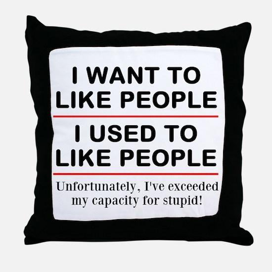 People Throw Pillow