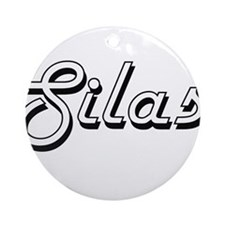 Silas Classic Style Name Ornament (Round)
