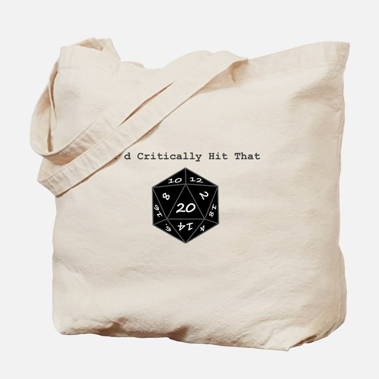 Id Critically Hit That - Black Tote Bag