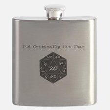 Id Critically Hit That - Black Flask
