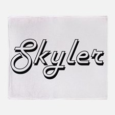 Skyler Classic Style Name Throw Blanket