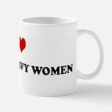 I Love THICK & CURVY WOMEN Mug