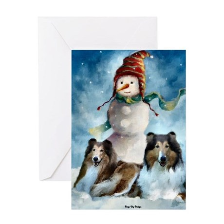 Collie Christmas Gifts Greeting Card