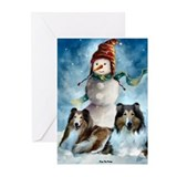 Rough collie Greeting Cards (20 Pack)