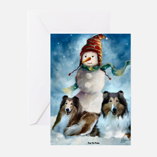 Collie Christmas Gifts Greeting Cards (Pk of 20)