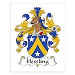 Hessling Family Crest Small Poster