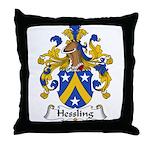 Hessling Family Crest Throw Pillow