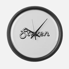 Steven Classic Style Name Large Wall Clock