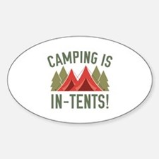 Camping Is In-Tents! Decal