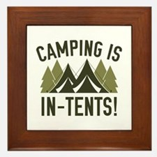 Camping Is In-Tents! Framed Tile