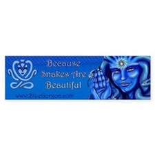 Blue Gorgon Logo Bumper Bumper Sticker