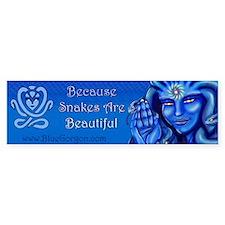 Blue Gorgon Logo Bumper Car Sticker