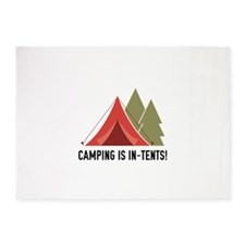 Camping Is In-Tents! 5'x7'Area Rug