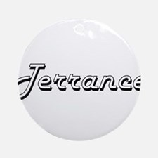 Terrance Classic Style Name Ornament (Round)