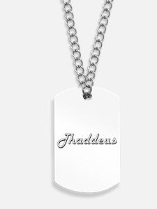 Thaddeus Classic Style Name Dog Tags