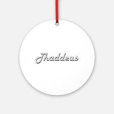 Thaddeus Classic Style Name Ornament (Round)