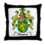 Hausen Family Crest  Throw Pillow