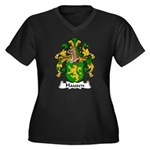 Hausen Family Crest  Women's Plus Size V-Neck Dark
