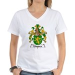 Hausen Family Crest  Women's V-Neck T-Shirt