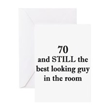 70 still best looking 2 Greeting Cards