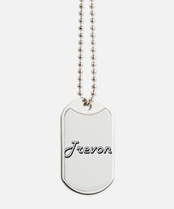 Trevon Classic Style Name Dog Tags