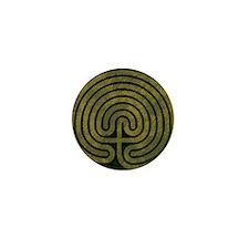 Labyrinth stone grass Mini Button