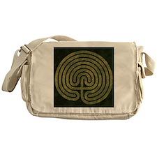 Labyrinth stone grass Messenger Bag