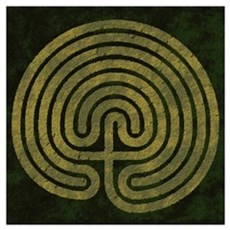 Labyrinth stone grass Poster