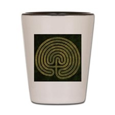 Labyrinth stone grass Shot Glass