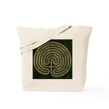 Labyrinth stone grass Tote Bag