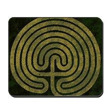 Labyrinth stone grass Mousepad