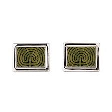 Labyrinth stone grass Rectangular Cufflinks