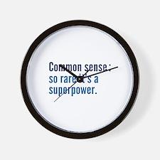 Common Sense Wall Clock