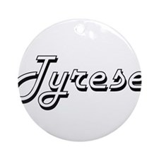 Tyrese Classic Style Name Ornament (Round)