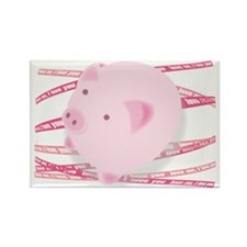 Pinky_Pig Rectangle Magnet